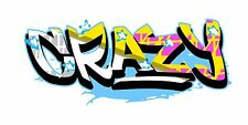 Grafitti Style Graffix Grafix Crazy Sticker Decal Graphic Vinyl Label