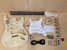 4/4 No-Solder DIY KIT Wooden Electric Guitar E-200 Free Digital Tuner,Picks