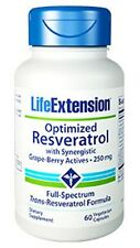 Life Extension Optimized Resveratrol with Synergistic Grape-Berry Actives -60 VC