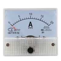 DC 0-20A Analog Amp Meter Ammeter Current Panel + 20A 75mV Shunt Resistor M1I2