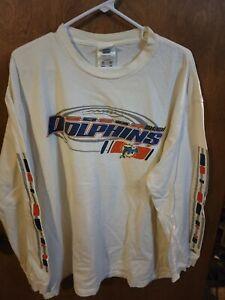 Men's Adidas Miami Dolphins Long Sleeve Shirt XL