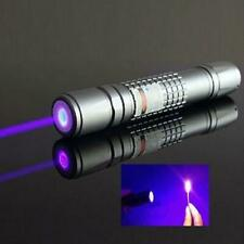 High Power 405nm Blue Purple Laser Pointer Burning Beam Pen Battery Charger 5mW