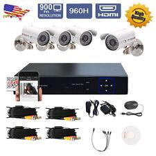 2TB 4CH Channel DVR Recorder HDMI Home Security Camera System H.264 SATA USA VIP