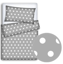 BABY BEDDING FIT CRIB SET 70x80cm PILLOWCASE DUVET COVER 2PC Dots Grey
