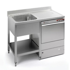 More details for commercial stainless steel right hand drainer single bowl dishwasher sink 1200mm