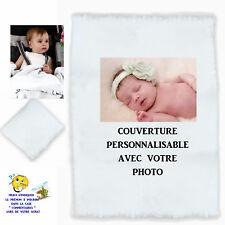plaid couverture bébé personnalisé naissance baptème prenom texte choix réf 00