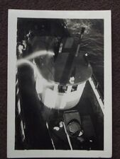 LOOKING DOWN INTO WHEEL HOUSE OF TUG / FISHING BOAT Vintage 1940 ABSTRACT PHOTO