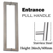 """Pair Of Modern Stainless Steel Entrance Front Door Pull Handles 24"""""""