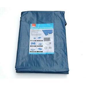 Hilka 24ft x 18ft Waterproof Polythene Tarpaulin Sheet Camping Hiking - Blue