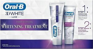 Oral-B 3D Teeth Whitening Accelerator Treatment Perfection Toothpaste White Luxe