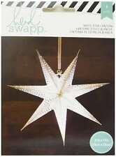 American Crafts 340571 Star Heidi Swapp Paper Lantern Small Seven Pt. Star White