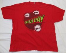 GREEN DAY UNO DOS TRE RED T-SHIRT - SIZE XXL