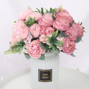 Artificial Flowers for Decorations Silk Rose Peony Mariage Bouquet Home Wedding