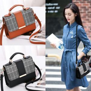 Women PU Leather Small Shoulder Bag Tote Crossbody Handbags Satchel Sling Bag