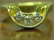 18kt 750 Bicolour Gold Ring with 0,30ct Brilliant Decorations/ Diamond/ 5,6g/ Rg