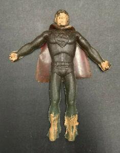 """Vintage SUPERMAN THINGMAKER 3"""" FIGURE w/ CAPE Mattel 1966 Rubber"""