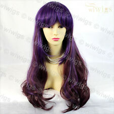 Wiwigs Beautiful Long Curly Purple Mix Cosplay Ladies Wig