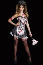 WOMENS LADIES SEXY HALLOWEEN FRENCH MAID COSTUME FANCY DRESS PARTY OUTFIT