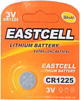 1 x CR1225 3V Lithium Knopfzelle 50 mAh ( 1 Blistercard a 1 Batterie ) EASTCELL