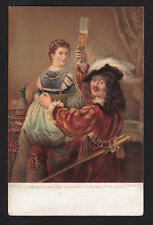 c1907 Stengel art by Rembrandt self portrait with his wife & beer glass postcard