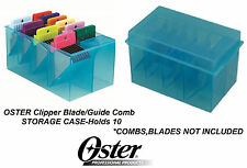 OSTER Clipper BLADE&ATTACHMENT/Guide COMB STORAGE CASE Tote*Also Fit Wahl,Andis