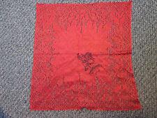 "Vintage Souvenir Badlands S. D.Hankie . 10-1/2"" x 11"" Lacy Handkerchief"