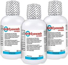 Rapid Care First Aid 653 3 Sterile Saline Isotonic Eye Wash Solution 16 Oz
