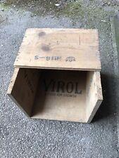 More details for virol wooden case for 28- lb tin rare