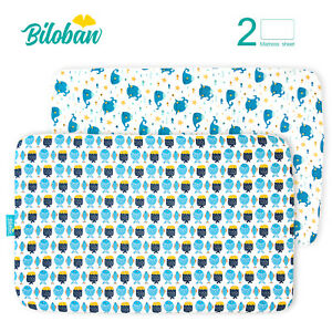 """Pack N Play Sheets Fitted Portable Playard Mini Crib Sheets 2 Pack 39""""x27"""""""