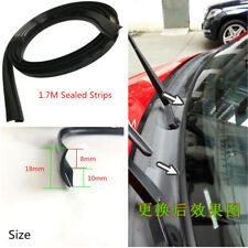 Black Car Rubber Seal Under Front Windshield Panel Sealed Trim Moulding Strips