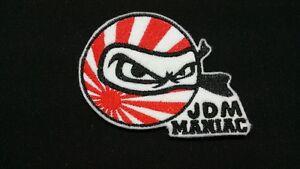 Embroidered JDM Japan Honda Flag Manic Ninja Patch Badge Iron on or Sew on.