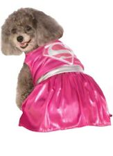 Pink Supergirl DC Comics Superhero Large  Halloween Pet Dog Cat Costume