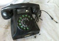 Vintage PTT Rotary Dial Office Desk Telephone Art Deco Black Phone Holland