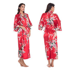 Women Silk Satin Kimono Robe Dressing Gown Bridesmaid Wedding Sleepwear Bathrobe
