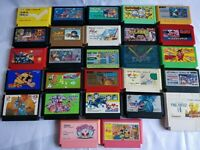 Whole sale Lot of 27 Nintendo Famicom FC NES Game Cartridge set/Not tested-c0513