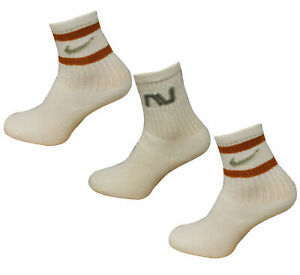 Nike 3 Pairs Pack Cushioned Toddlers Unisex Crew Socks White 565703 102 A161E