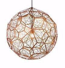 Artistic Pendant Light A Globe Of Pentagons - Unique Geometric Metal Mesh