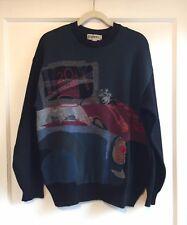 Vintage ICEBERG 100% Virgin Wool 20th Century Iceberg Fox Sweater Size M RARE!