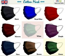 Face mask cotton washable reusable unisex Wholesale black navy red green white