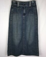 NEW LOOK COLLECTION Women's Denim Skirt Size EU/36 Long Decorative Snaps