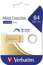Verbatim USB Stick 64GB Speicherstick Drive Metal Executive gold USB 3.0