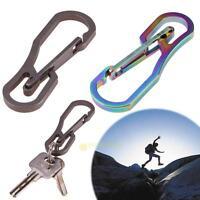 1x 25KG Titanium Alloy Hanging Hook EDC Survival Outdoor Tool Keychain Carabiner