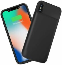 iPhone X 3600mAh Extended Battery Phone Case Rechargeable Power Bank Cover BLACK