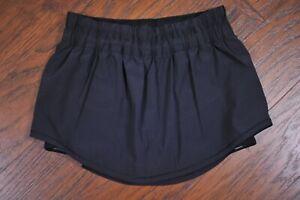 Lululemon Run: Breeze By Skirt Skort Black Women's 6