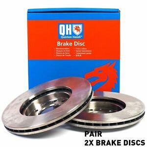 Quinton Hazell Front Axle Internally Vented 348mm Brake Disc Pair Set - BDC5529