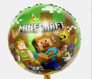 """MINECRAFT THEMED 18"""" FOIL BALLOONS  FREE DELIVERY - SAME DAY DISPATCH- UK SELLER"""