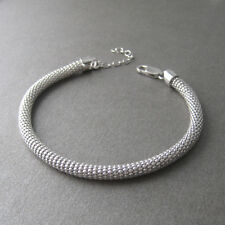 Gros bracelet maille serpentine argent 925/1000 BR126