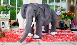 NEW Giant Plush Simulation Elephant Toy 70cm Kids Soft Stuffed Animals Doll gift