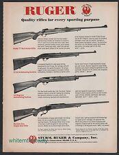1971 RUGER Model 77 & Number One Rifle 10/22 & 44 Magnum Carbine AD