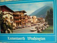 VINTAGE  BEAUTIFUL POST CARD LEAVENWORTH WASHINGTON